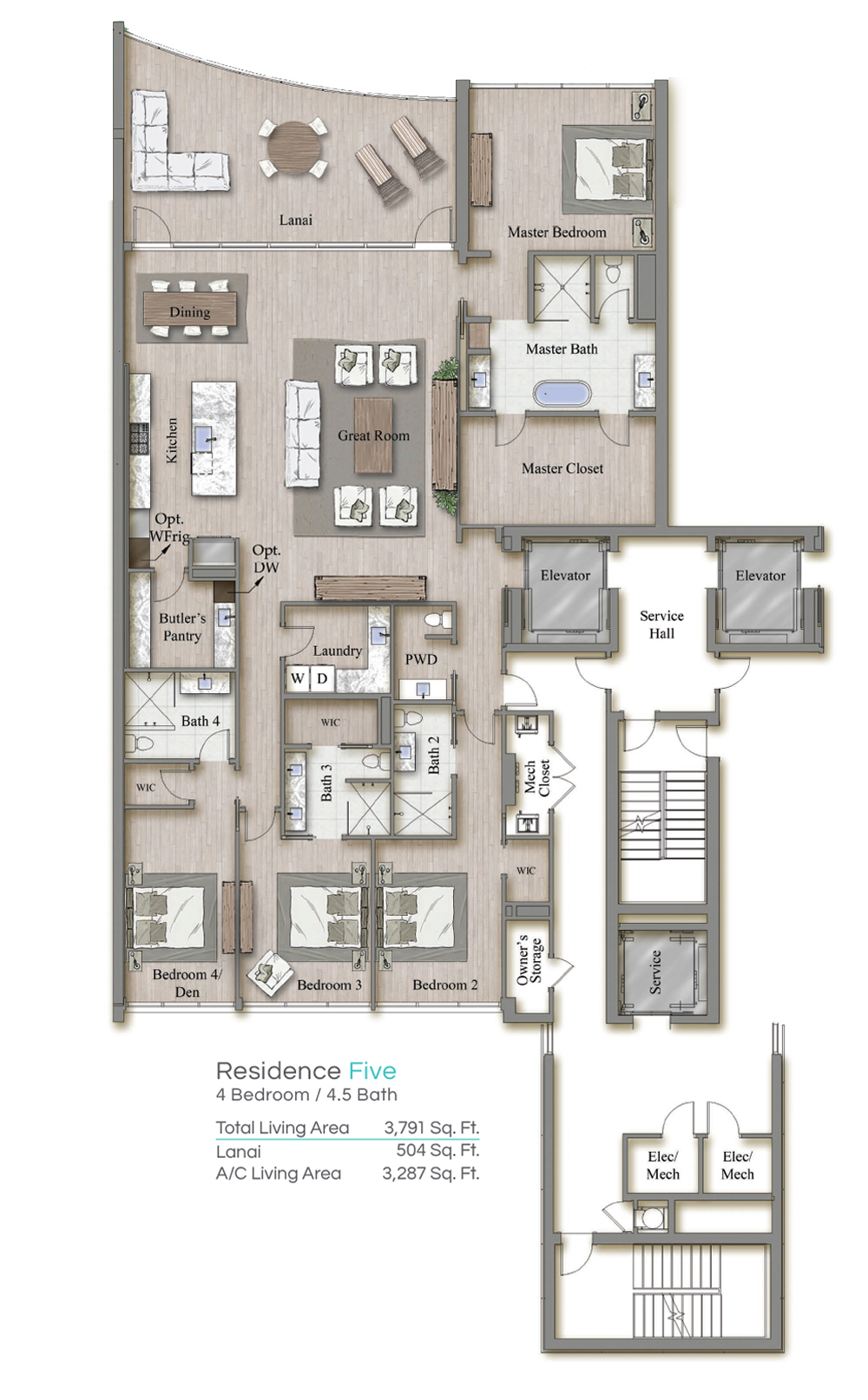 Tower 2 Residence 5 Floorplan
