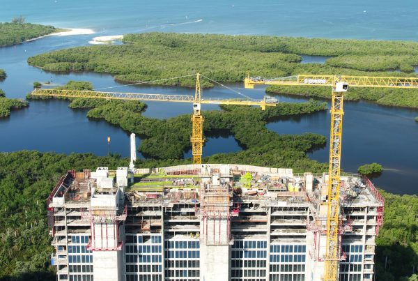 Aerial photo of Tower 300 Construction