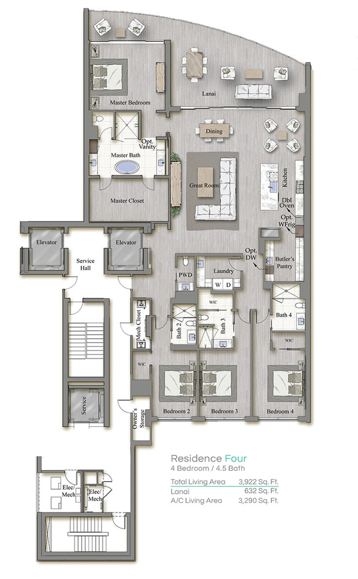 Tower 3 Floorplan Four