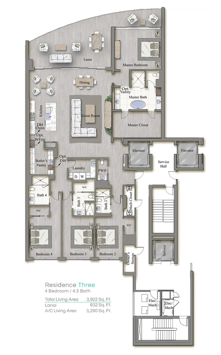 Tower 3 Floorplan Three