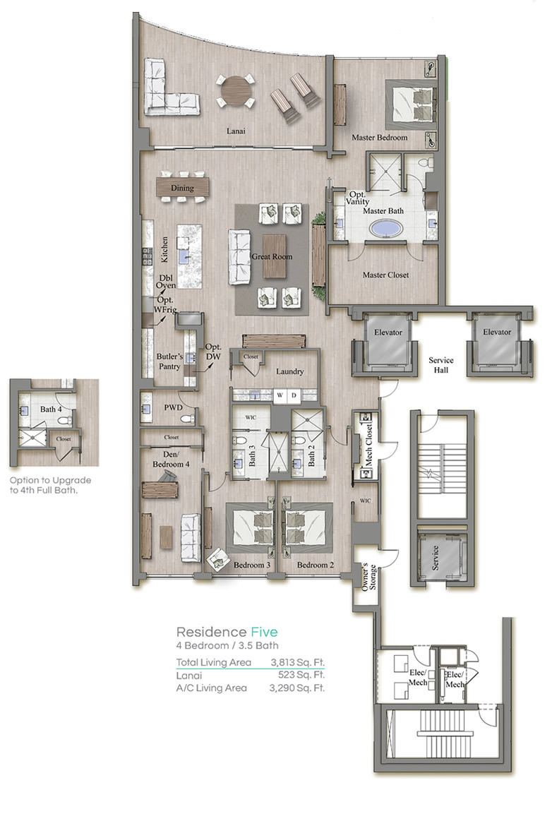 Tower 3 Floorplan Five