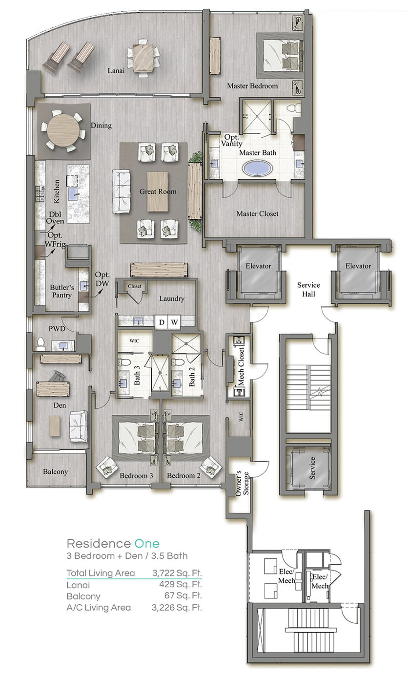 Tower 3 Floorplan One